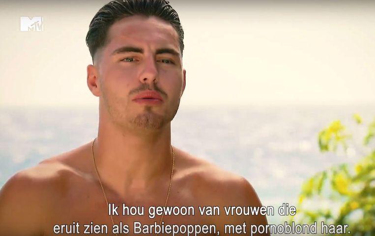 """Elias uit het vierde seizoen van """"Ex on the Beach: double Dutch"""""""