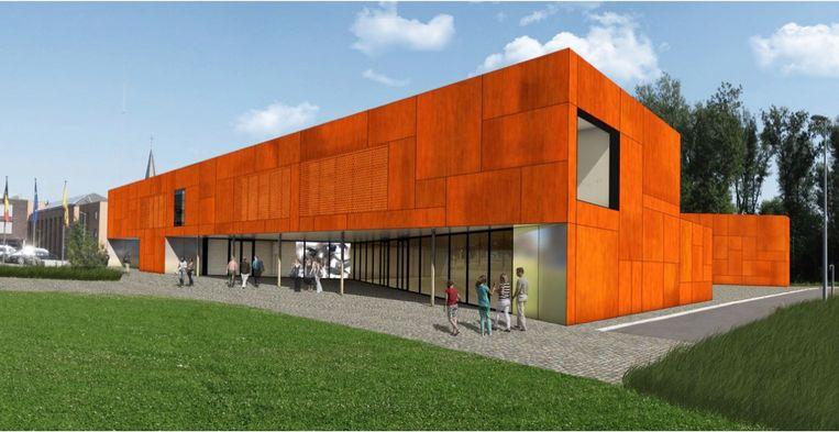 het nieuwe cultuurhuis dat gebouwd wordt gemeente merelbeke