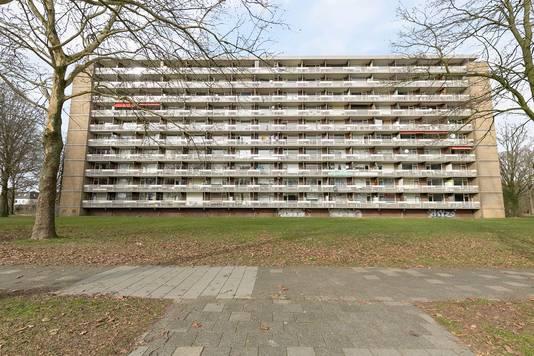 Het flatgebouw aan de Lisztgaarde.