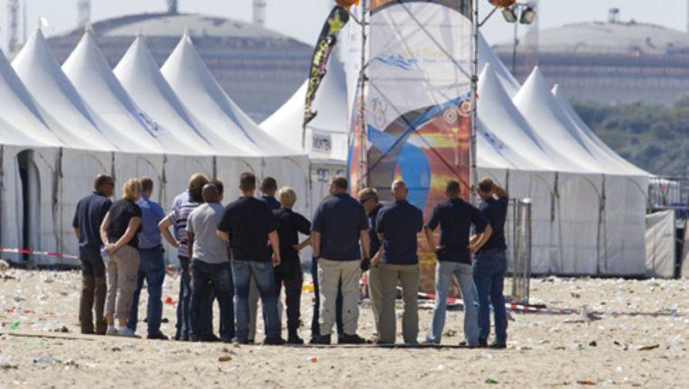 Politie, justitie en de gemeente Rotterdam hebben fout op fout gestapeld rondom het fataal verlopen strandfeest in Hoek van Holland. Archieffoto ANP Beeld