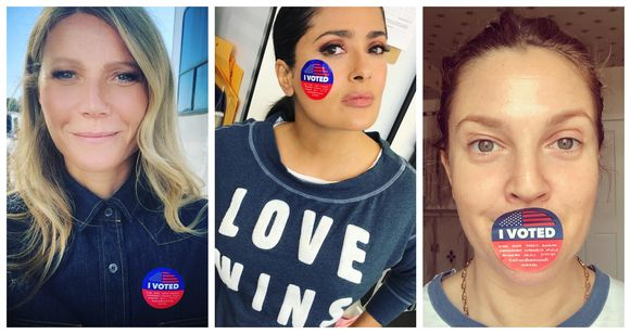 Gwyneth Paltrow, Salma Hayek en Drew Barrymore gingen alvast stemmen vandaag