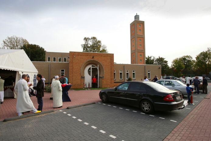 Moskee Annasr in Gorinchem, gefotografeerd tijdens de opening in 2012. Nu komt de gemeenschap vrijdag voor het eerst bijeen sinds de sluiting in verband met de uitbraak van de coronacrisis.