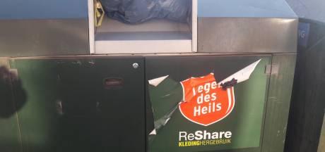 Uitgebrande kledingcontainer in Opheusden al de vierde dit jaar in Neder-Betuwe