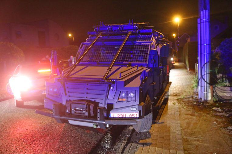 De speciale politie-eenheden werden ingeroepen om de man te overmeesteren.