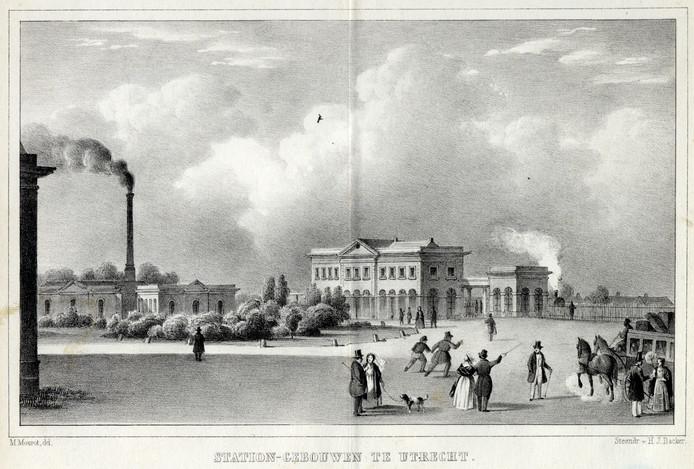 Het Centraal Station in 1845.