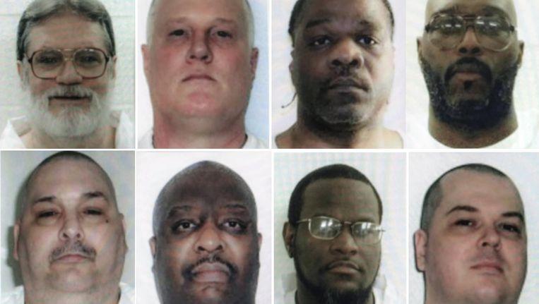 De gevangenen die de staat Arkansas voor het einde van de maand wil executeren. Beeld ap