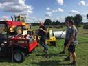 De voorbereidingen op het EK Tractorpulling in Alphen zijn in volle gang.