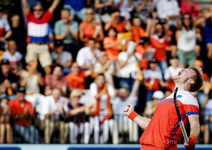 Mink van der Weerden speelde in augustus 2017 op het EK in Amstelveen zijn laatste wedstrijd voor Oranje.