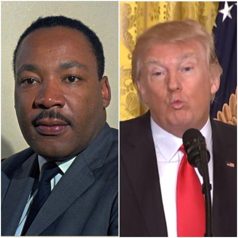 Protesten Tegen Trumps Antimigratiebeleid Op Martin Luther