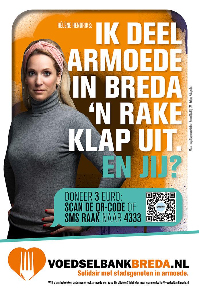 Campagne voedselbank Breda, met  Hélène Hendriks