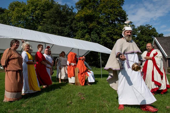 Romeinse bruiloft op de oogstdag.