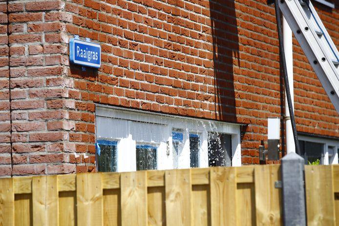 De woning liep vermoedelijk wel enige waterschade op door de bluswerkzaamheden.
