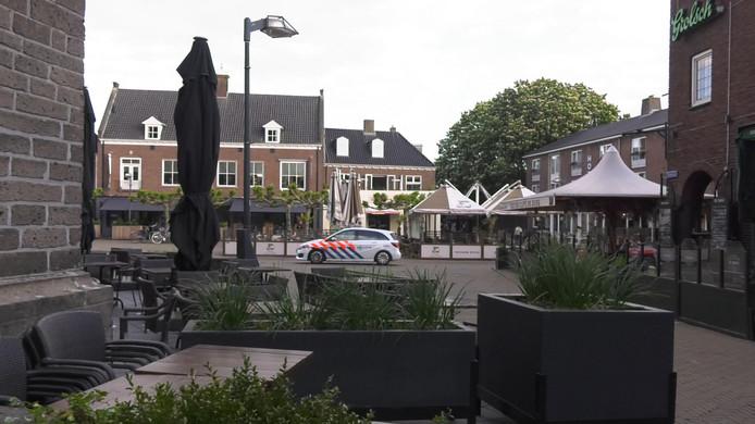 Lege terrassen in de binnenstad