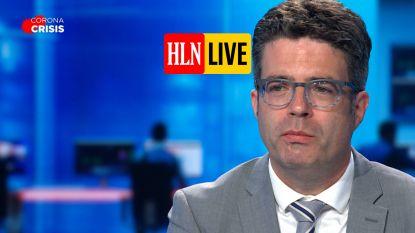 """HLN LIVE.  Van Gucht: """"Sociale bubbels kunnen misschien wat groter"""""""