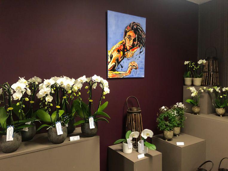 """Momenteel vindt de expo """"Art by C.O."""" plaats bij bloemenatelier Creaflor in Wenduine"""