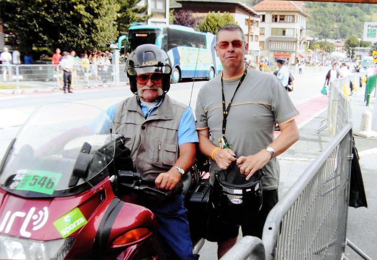 Jos Dewit met Carl Berteele toen hij reed voor de VRT.