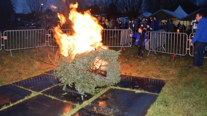 Fakkeltocht en mogelijk laatste kerstboomverbranding in Welle