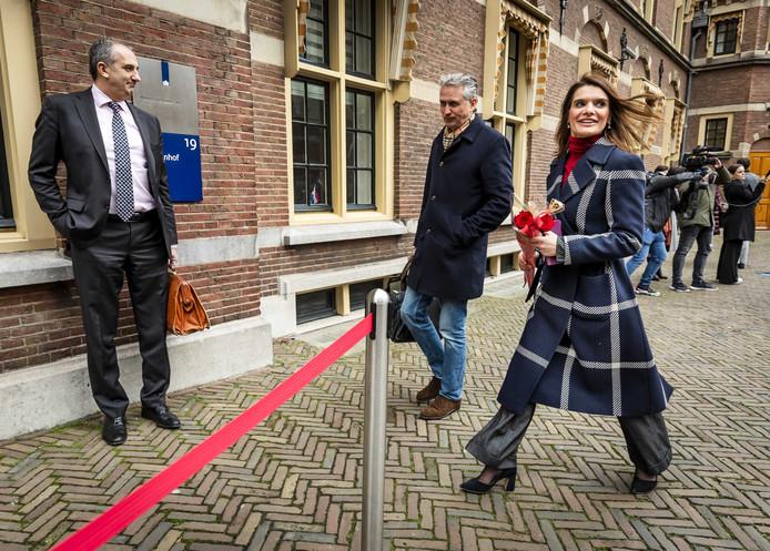 2020-02-14 10:32:57 DEN HAAG - Barbara Visser, staatssecretaris van Defensie, komt aan op het Binnenhof voor de wekelijkse ministerraad. ANP REMKO DE WAAL