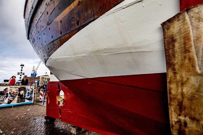 Het gereconstrueerde expeditieschip van Willem Barentsz.