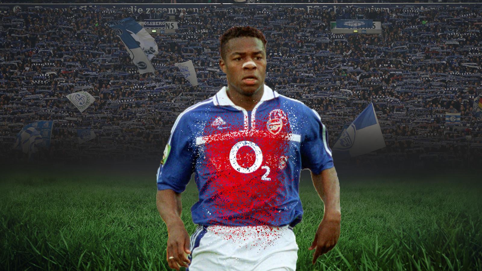 Émile Mpenza speelde bij Schalke 04, maar zag een toptransfer naar Arsenal afspringen.