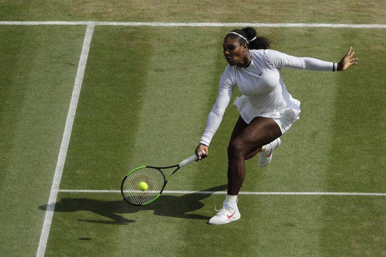Serena Williams op Wimbledon. Beeld AFP