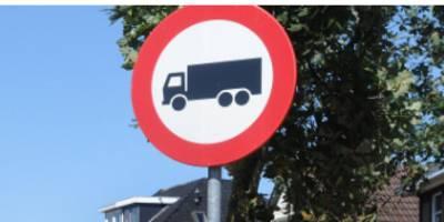 Vrachtwagens worden geweerd uit Belgische grensdorpen