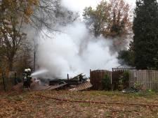 Chalet afgebrand op camping De Heische Tip in Zeeland