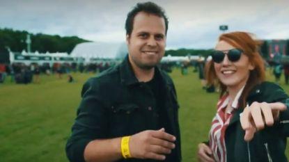 VIDEO. Linde Merckpoel en Sander Gillis muilen op Graspop