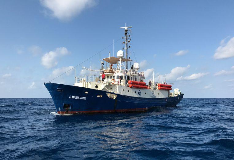 Het schip Lifeline van Mission Lifeline Beeld EPA