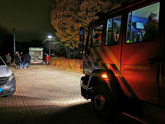 De brandweer spoedde zich voor niets naar de camper.