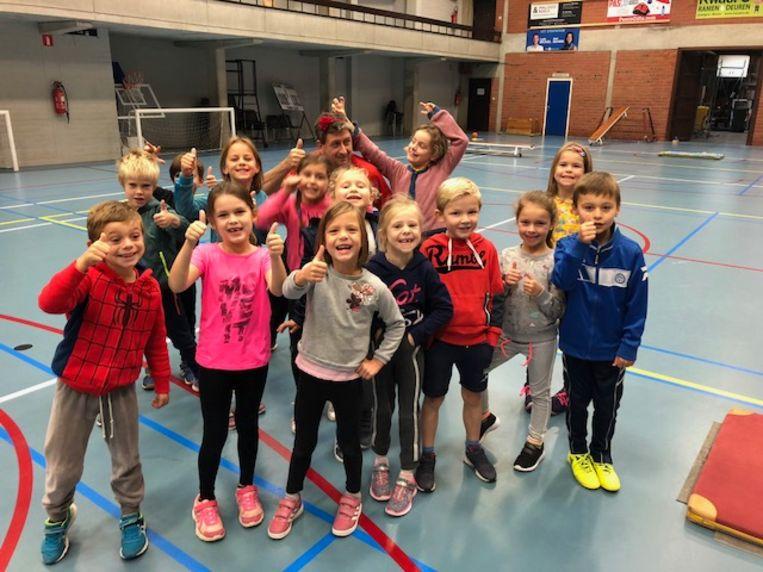De kinderen trokken op sportweek naar Zottegem.