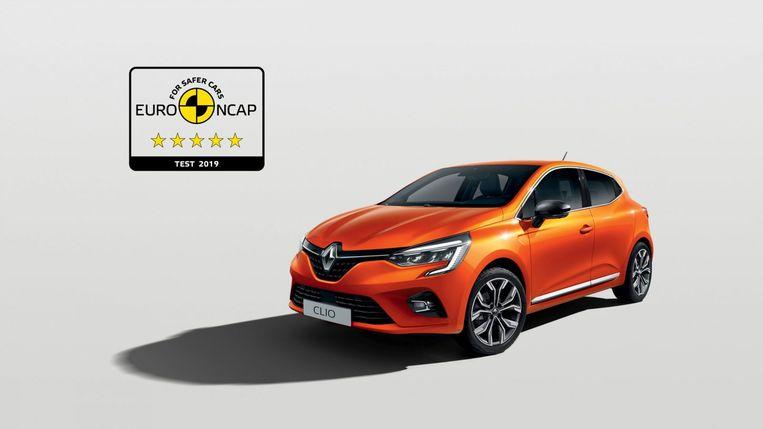 Renault Clio 2019: 5 sterren in de EuroNCAP. Beeld RV