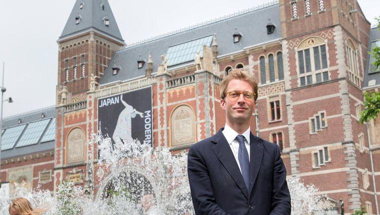 Museumdirecteur Taco Dibbits poseert voor het Rijksmuseum in Amsterdam. Beeld anp