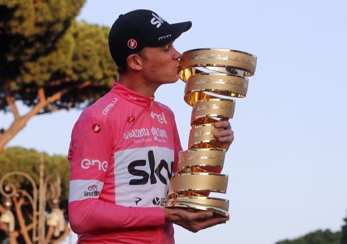 Froome als winnaar van de Giro 2018.