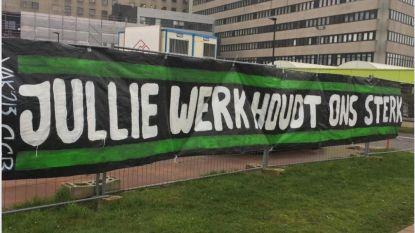 "Sfeergroep Cercle Brugge hangt spandoeken op aan Brugse ziekenhuizen: ""Jullie werk houdt ons sterk"""