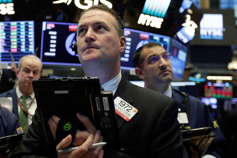 De toonaangevende indices, Dow Jones, S & P 500 en Nasdaq Composite vestigden alle drie records. Beeld AP