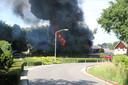 Brand in een loods in de Bovenstraat, Hoeven