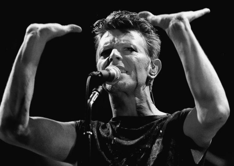 1983, Bowie treedt op in Frankfurt am Main. Beeld afp