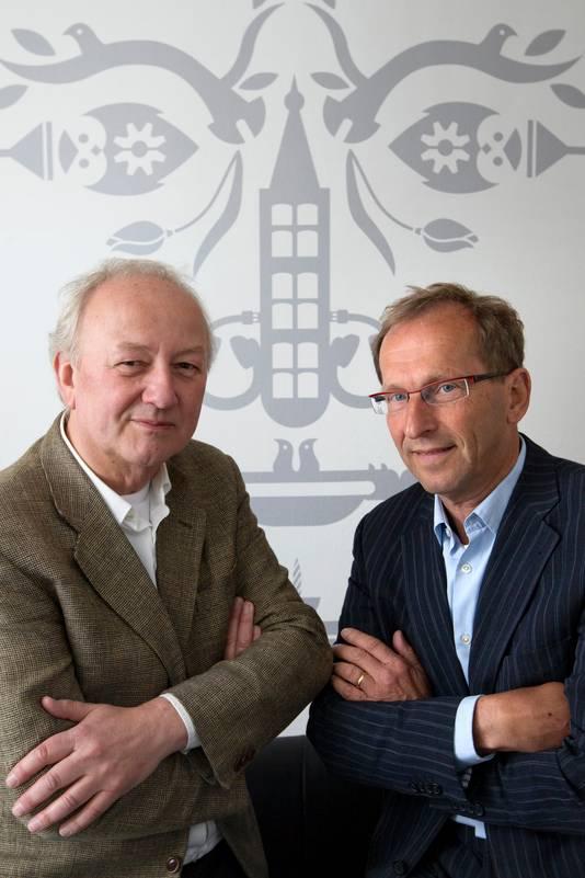 Ad 's Gravesande, artistiek leider organisatie Jeroen Bosch 500 (links) en zakelijk directeur Paul van der Eerden van de Stichting Jheronimus Bosch 500.