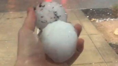 VIDEO: In het hete Texas vallen hagelbollen zo groot als tennisballen uit de lucht