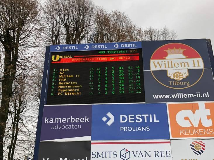 Willem II pronkt met teletekstpagina op LED-bord voor het stadion