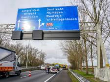 Ongeval op A27 bij Oosterhout zorgde voor files