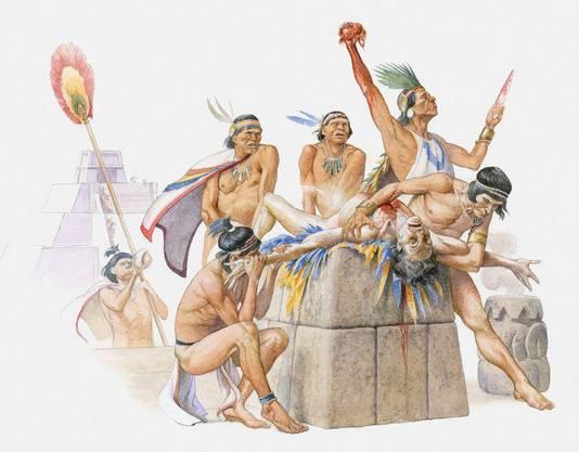 Sacrifice de l'ennemi perpétré par les Aztèques