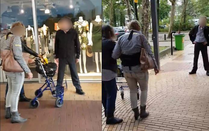 Chauffeur Regiotaxi in Zeist heeft geen geduld voor vrouw die slecht ter been is.