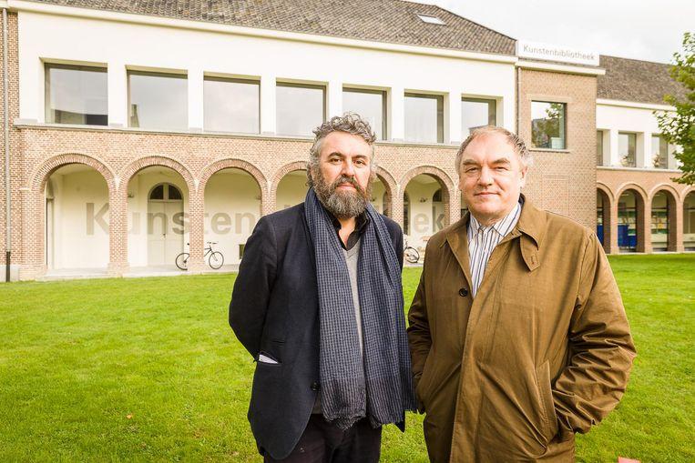 Philippe Van Cauteren en Wim de Temmerman voor de Kunstenbibliotheek.