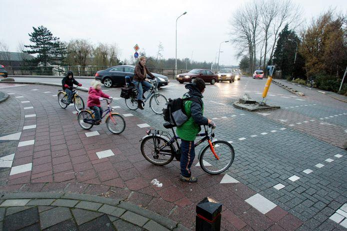 Het bewuste kruispunt Oude Veiling/Maassluiseweg.