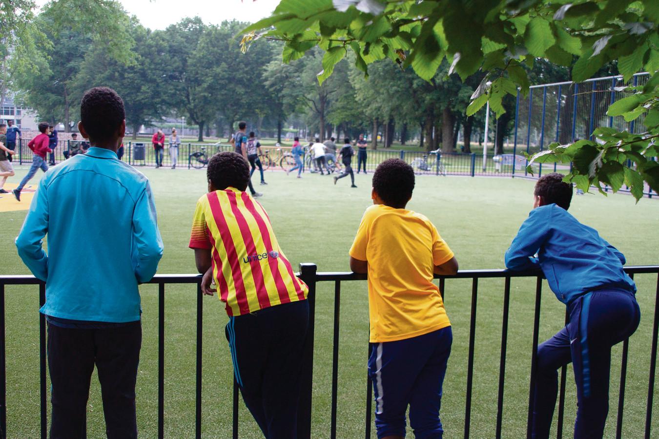 Een sportactiviteit mede georganiseerd door RNewt, het jongerenwerk van ContourdeTwern.