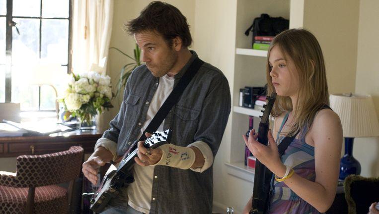 Stephen Dorff en Elle Fanning in Somewhere (2010). Beeld -