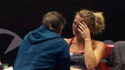 """""""Bleitkous! Baby!"""": Belgische tennisster laat zich niet van haar fraaiste kant zien"""