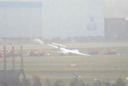 Vliegtuig belandt naast landingsbaan op Schiphol